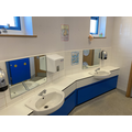 There are 2 sinks to use. The sinks and toilets are shared with the Tiger class.