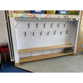 You will have a peg in your new classroom to keep your bag and coat on.