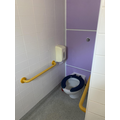 There is 1 toilet. You don't have to share your toilet with any other class!