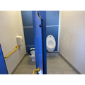 There is 1 toilet and 1 urinal. You can use the urinal to do a stand up wee.