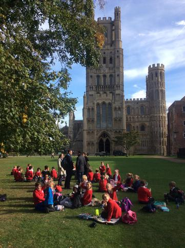 Lunch at Ely Cathedral.