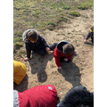 Writing our names in the sand