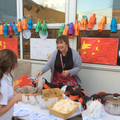 Mrs Bird with Chinese delights!