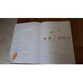 Writing a shopping list!