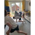 Exercising!