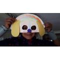 Making a dog mask!