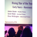 Nominees for 'Rising Star of the Year' award.