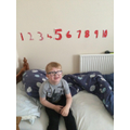 I made a number line for my bedroom!