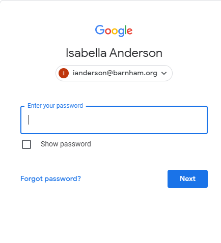7. Next, type in the password given