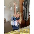 I made a parachute!
