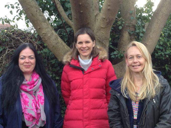 Mrs Hume, Mrs Williams and Mrs Liesching-Schroder