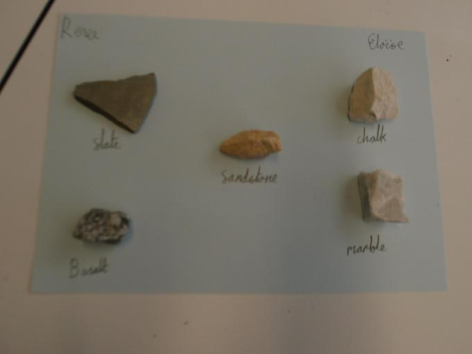 """We've labelled each rock"""