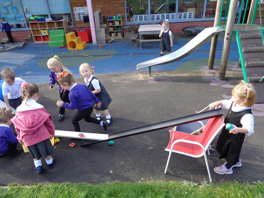Exploring ramps and vehicles