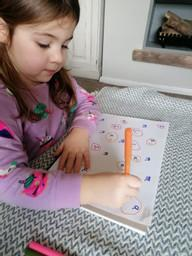 Willow learning her letters