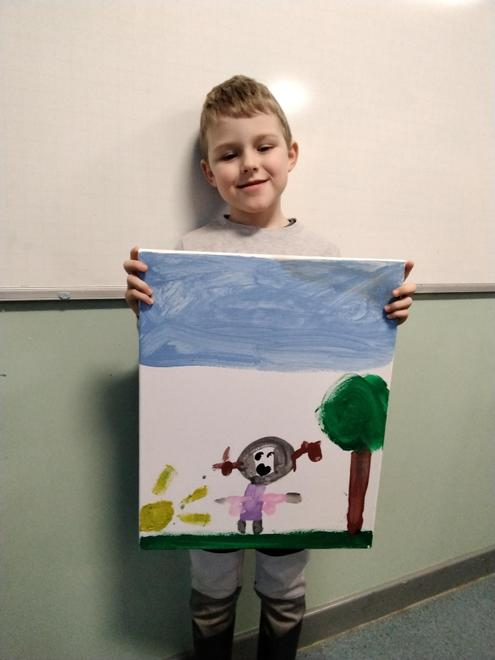 Leo's Canvas Painting