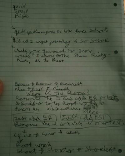 Keisha's Note Taking