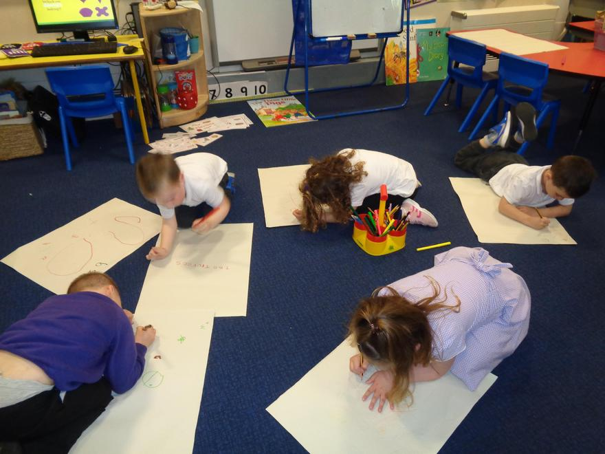 Making our own story maps - what concentration 😊