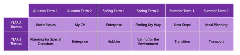 Key Stage 4 Curriculum Themes