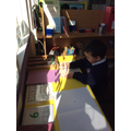 Using the writing area to create shapes