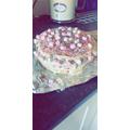 Happy Birthday, Jasmine. She made her own cake!