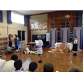 Performing our Greek plays.
