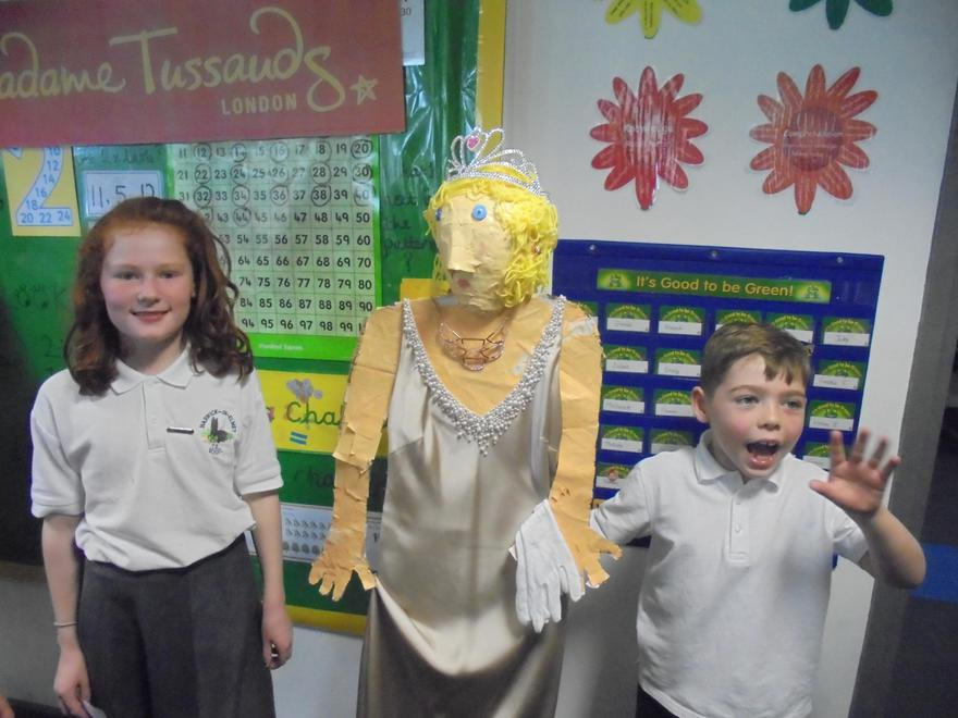 Anna & Daniel meeting royalty.