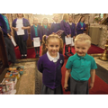 Our birthday children lit the paschal candle.