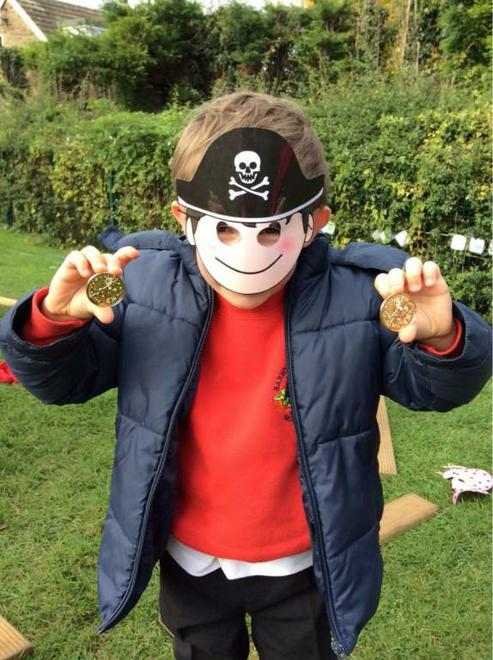 Pirate dressing up!