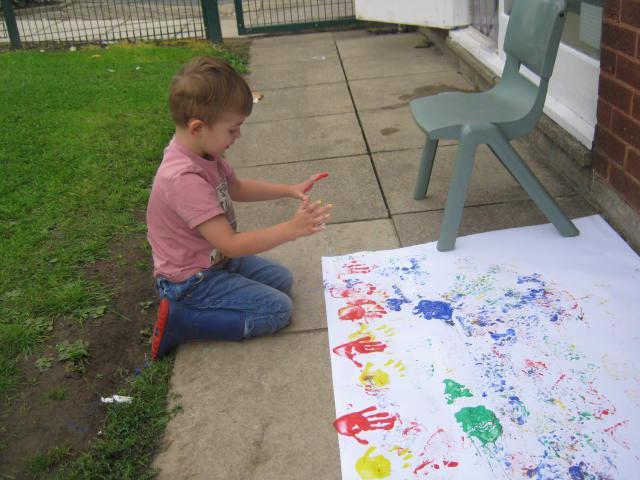 Making handprints