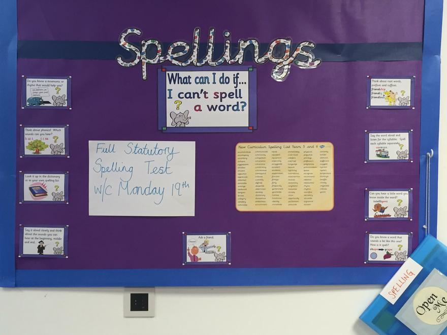 Y5/6 Stat. Word Test next week - all words!