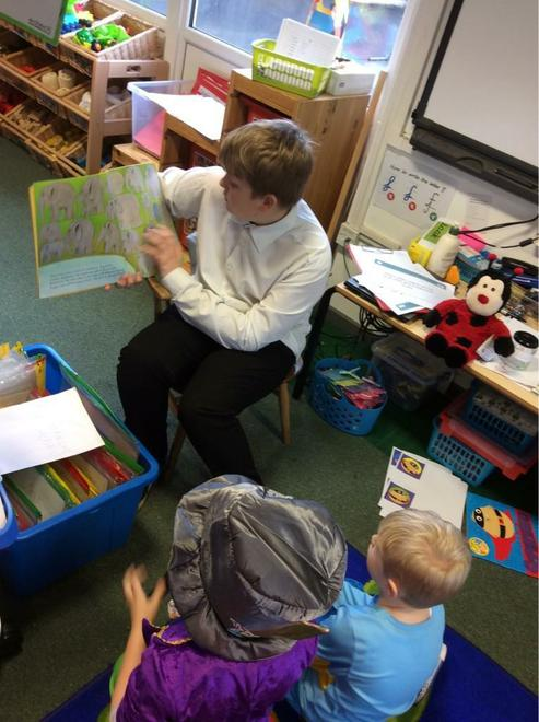 Reading with year 6