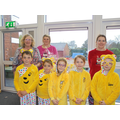 Our own Pudsey bears and lunchtime team.