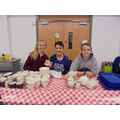 Year 6 served afternoon tea.