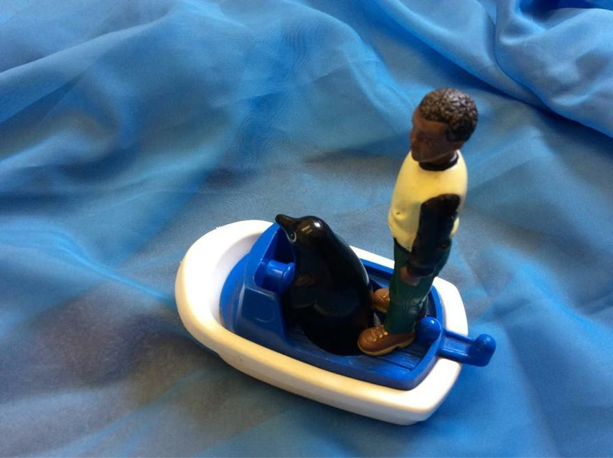 The boy and the penguin set off for the South Pole