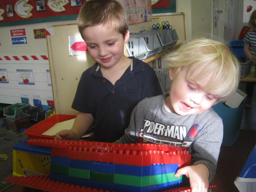 L.R and F.F worked together to make their house