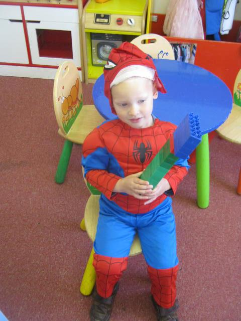 Dressing up as Spiderman