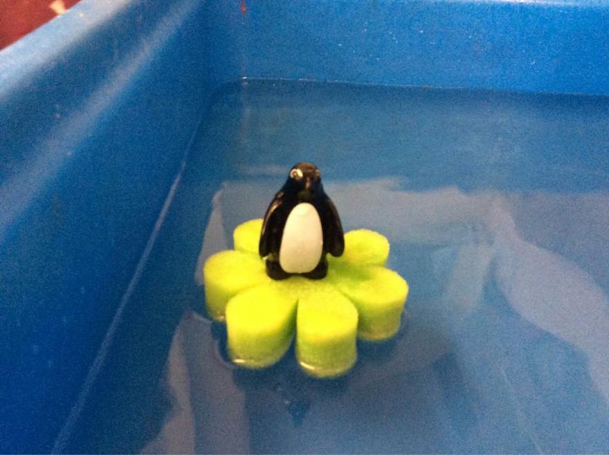 Lottie's new boat for the penguin.