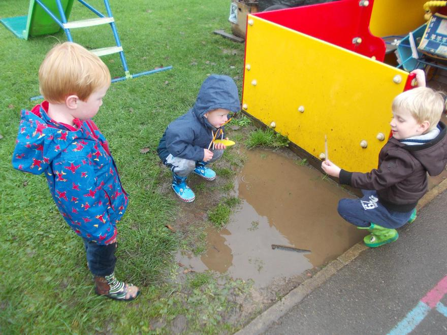 Wet weather brings exciting play opportunities!