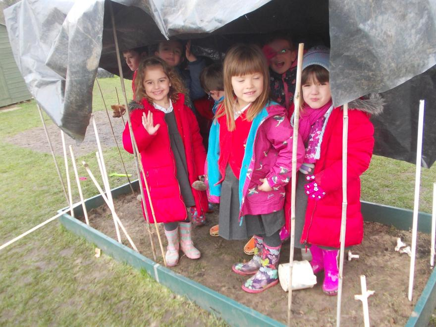 We love building dens in our outside area!