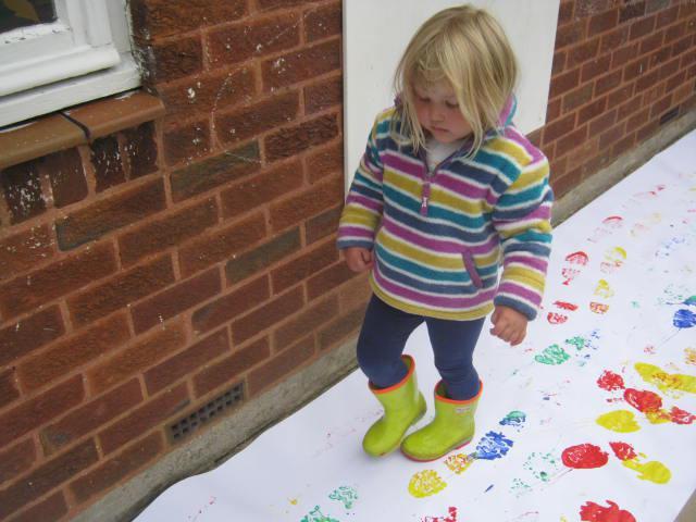 Messy footprints