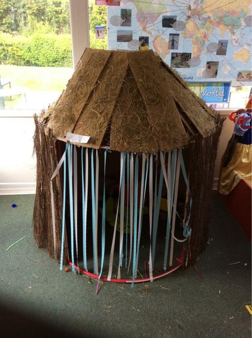 African hut role play