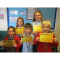 Award winners Friday 11th October