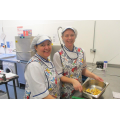 Mrs Mellor and Mrs Agg. Kitchen Staff