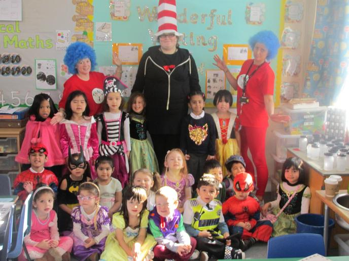 Seahorse Class dressed up for World Book Day 2016