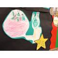 Mahdiyh drew a big alien!