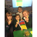 Following instructions to make fruit kebabs - Jan
