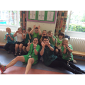 Green Team for the WIN at Sports Day - June