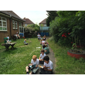 Reading in the Eco Garden - June