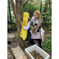 Tree hugging to connect with nature for mental health awareness week.