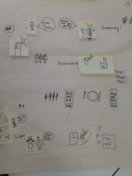 We started by changing the story map.